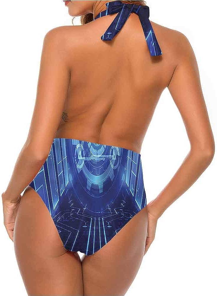 Adorise Custom Maillots de bain Moderne, Lèvres rouges souriant Féminin pour nager, Snorkeled et Dansé Multi 17