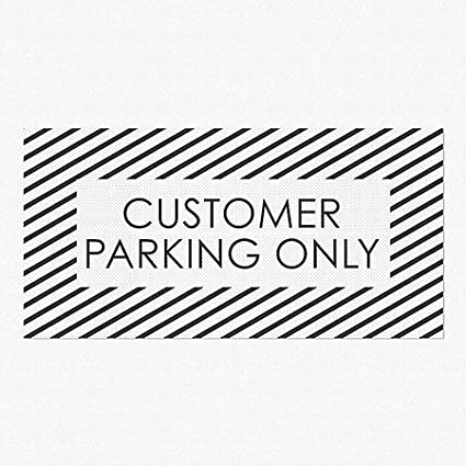 Keep Out 5-Pack Nostalgia Stripes Perforated Window Decal CGSignLab 96x48