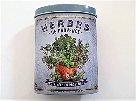 Herbes De Provence Boite Metal Decorative Nova Botanica Amazon Fr