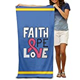 Huishe1 Faith Love Hope Breast Cancer Adults Cotton Beach Towel 31'' X 51''