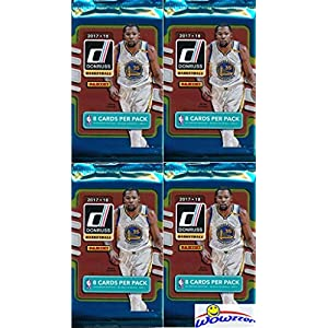 2017/18 Panini Donruss NBA Basketball Collection of FOUR(4) Factory Sealed Packs with 32 Cards! Loaded with ROOKIES & INSERTS! Look for RC's & Autographs of Jayson Tatum, Lonzo Ball & More! WOWZZER!