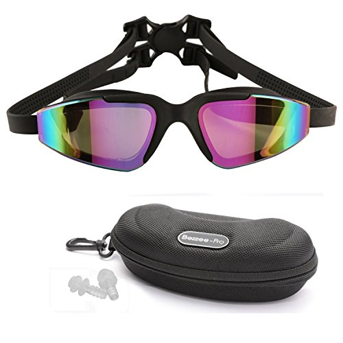 Bezzee-Pro Swimming Goggles for Adult Men and Women - UV Protected - Anti-Fog Unisex Swim Goggles - Am Pro Goggles