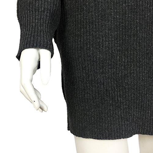 Fengtre Women s Loose Oversize Turtleneck Wool Long Pullover Sweater Dress  Grey M 7d90dd8b8