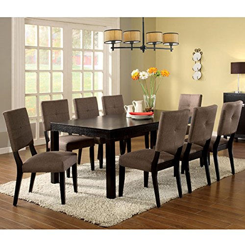 Bay Side Espresso Finish 9-Piece Dining Table Set
