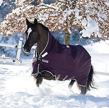 Horseware Rambo Turnout Wug Sheet, Light Weight, Purple/Silver - 81
