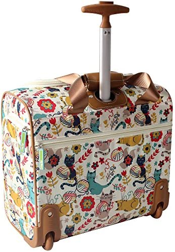 Amazon Com Lily Bloom Designer 15 Inch Carry On Weekender Overnight Business Travel Luggage Lightweight 2 Spinner Wheels Suitcase Under Seat Rolling Bag For Women Furry Friend Carry Ons