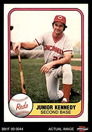 Amazoncom 1981 Fleer 203 Junior Kennedy Reds Baseball Card