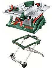 Bosch Tischkreissäge PTS 10 mit mobilem Untergestell PTA 2000