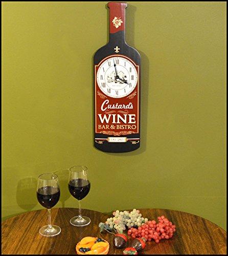 Personalized Wine Bar Bottle Shaped Clock