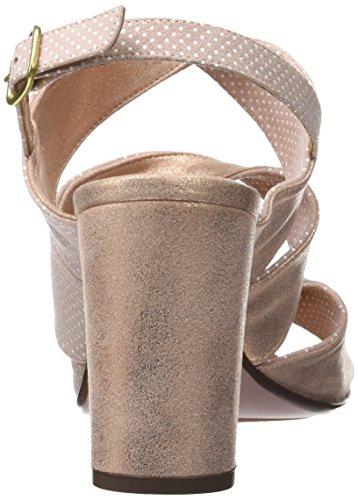 Chie Mihara Women's Crushli30 Sling Back Sandals Pink (Punti Powder Ante Metal Peach Punti Powder Ante Metal Peach) 7T6oSP2JO