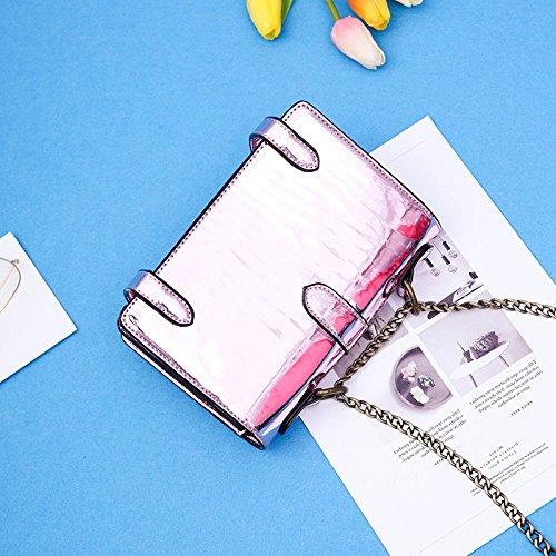 Ajlbt Handbag Leisure Fashion Bag Pink Women Laser Bag Messenger rnqwc4r6A