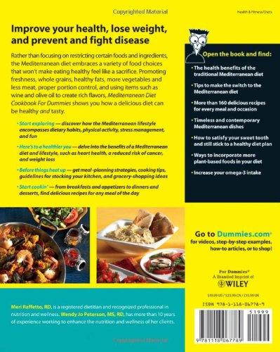 Mediterranean Diet Cookbook For Dummies: Meri Raffetto, Wendy Jo