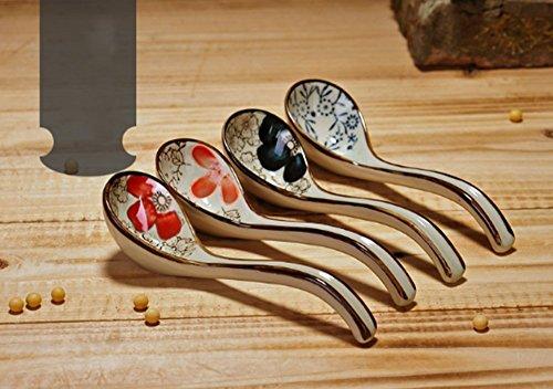 BBO-Long handle Hook Spoon Soup Spoon Hand-crafted Tableware