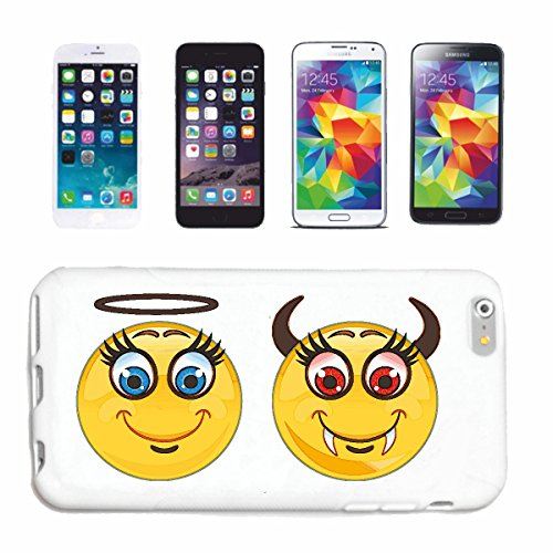 "cas de téléphone Samsung Galaxy S5 ""PEU ET ANGEL DEVIL SMILEY ""sourire EMOTICON APP de SMILEYS SMILIES ANDROID IPHONE EMOTICONS IOS"" Hard Case Cover Téléphone Covers Smart Cover pour Samsung Galaxy S5"