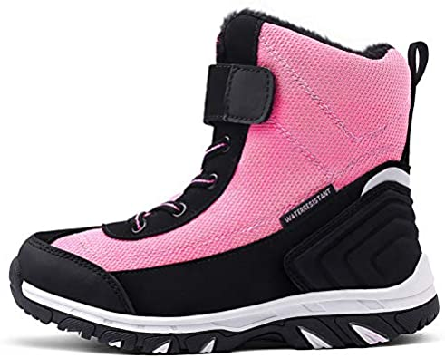 Toddler//Little Kids//Big Kids SILENTCARE Boys Girls Snow Boots Winter Waterproof Slip Resistant Cold Weather Kids Shoes Boots