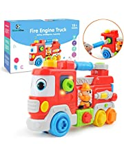 GizmoVine Juguetes Bebes 1 Año Juguete Educativo Camión De Bomberos con Música Juguete Educativo Temprano para 1 2 3 Años Bebés Niños