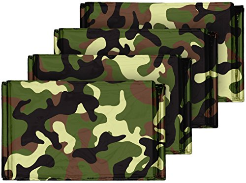 Camouflage-Emergency-Mylar-Blankets-4-Pack--Perfect-for-Outdoor-Camping-Hiking-Survivalist-Shelters-Preppers-Hunting-First-Aid-Kit