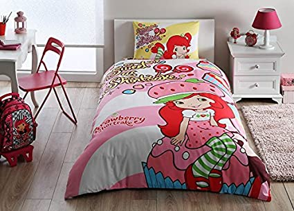 . Amazon com  Strawberry Shortcake Cute Bedding Duvet Cover Set New