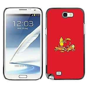 Caucho caso de Shell duro de la cubierta de accesorios de protección BY RAYDREAMMM - Samsung Galaxy Note 2 N7100 - Food Hot Dog French Fries Ketchup