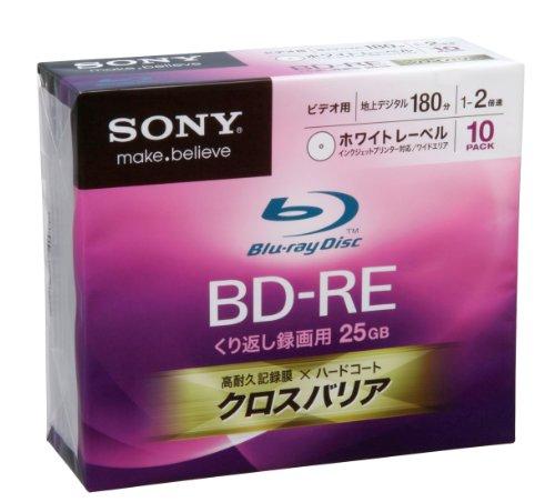 Sony Blu-ray Disc 10 Pack - 25GB 2X BD-RE Version ...