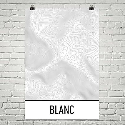 Topographic Map France.Amazon Com Mont Blanc Print Mont Blanc France Poster Mont Blanc