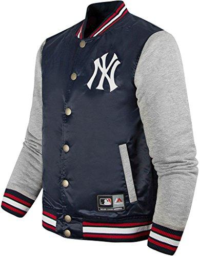 859016ca273be Majestic - Chaqueta de béisbol oficial de los New York Yankees azul azul  marino Medium