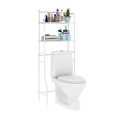 home bi over the toilet storage bathroom spacesaver free standing metal bathroom shelf storage shelf - Bathroom Shelf Unit