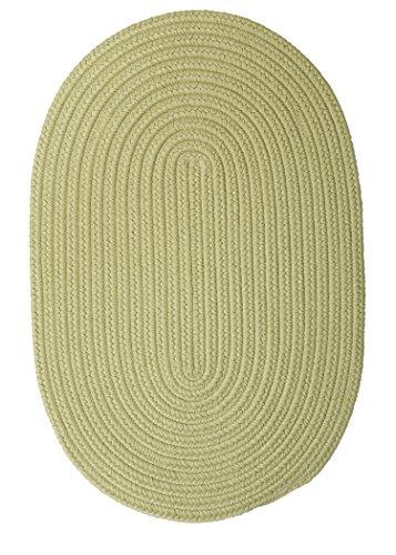 Boca Raton Polypropylene Braided Rug, 8-Feet by 11-Feet, Celery (La Boca Furniture)