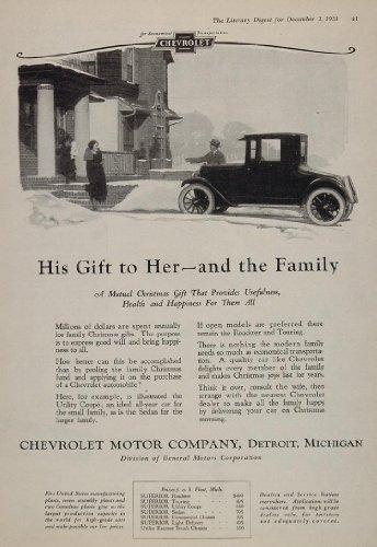 Coupe Antique (1923 Ad Chevrolet Utility Coupe Antique Car Christmas - Original Print Ad)