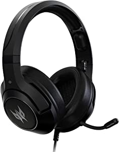 Acer Predator Galea 350 7.1 Surround Sound Gaming Headset: 50mm Neodymium Drivers - Retractable Noise Cancelling Mic - On-Cable Controls - Black