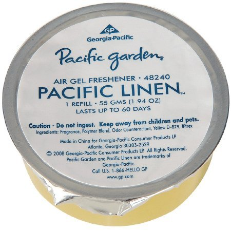 Georgia-Pacific 48240 Pacific Garden Air Freshener Gel Refill, Fresh Linen Scent (Case of 12 Fresheners) by Georgia-Pacific