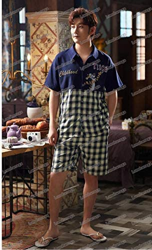 ペアルック カップル2着セット チェック柄 ペア パジャマ 半袖 メンズ ルームウェア 前開きパジャマ ワンピース レディース 綿 ペア 寝間着 ギフト プレゼント 父の日 母の日 結婚祝い おしゃれ 夏用 パジャマ お揃い