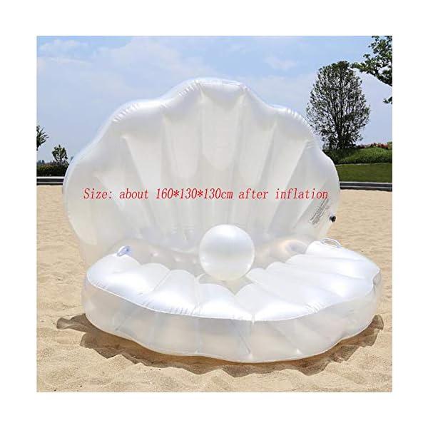 ZLYFA Piscina Gonfiabile di Bianco Shell per La Fila di Galleggiamento dell'Acqua della Chaise-Lounge della Sedia 3 spesavip