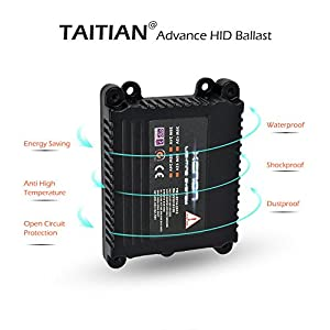 HID Slim Ballast 35W Electronic Ballast for Headlights TaiTian Replacement Ballast for Car Lighting System Conversion Kit H1 H3 H4 H7 H11 H13 9005 9006