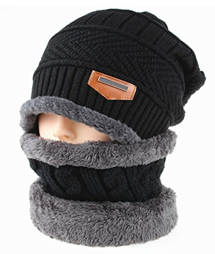 Cap Hombres De Cálido Invierno Polar Beanie Skullies Unisex Forro Sombrero De Punto Negro Gorro DELEY Lana Mujeres 5ZqTn0