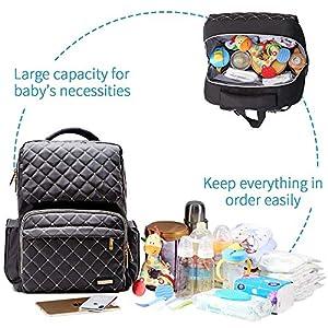 Baby Diaper Bag for Boys, Multifunction Waterproof Baby Diaper Bag Large Capacity, Travel Diaper Backpack for Dad & Mom…