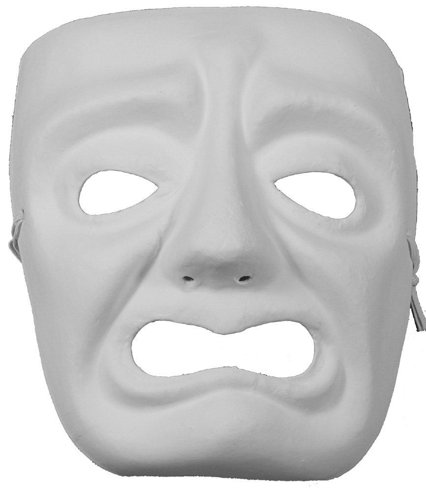 Jabbawockeez Style Venetian Masquerade White Grumpy Face Mask