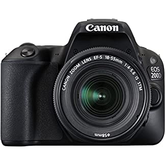 Canon EOS 200D 24.2MP Digital SLR Camera with EF-S 18-55 mm is STM Lens and EF-S 55-250 mm is STM Lens/Camera Case 6