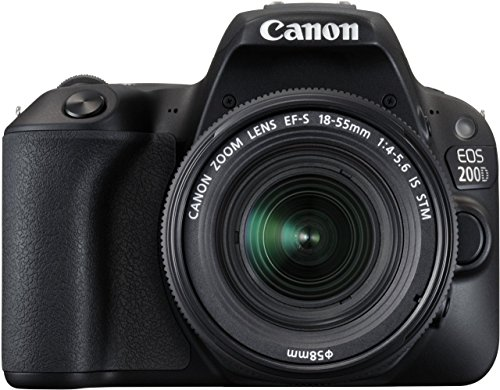 Canon EOS 200D 24.2MP Digital SLR Camera + EF-S 18-55 mm f4 is STM Lens, Free Camera Case and 16GB...