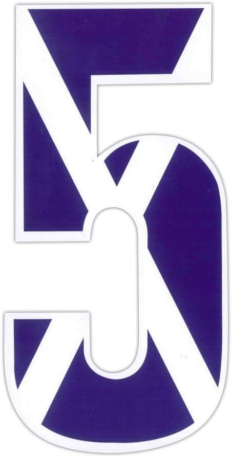 Wheelie Bin numbers Monogram Sticker For House or Scotland Flag Design