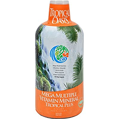Tropical Oasis Tropical Plus Mega Multiple Vitamn Mineral - 32 fl oz - 30 Day Supply - Gluten Free