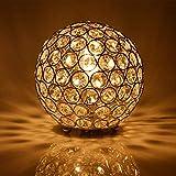 Cheap Floodoor Crystal Spherical Table Lamp Silver Decorative Bedside Desk lamp for Bedroom, Living Room, Dining Room, Kitchen