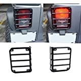 u-Box Gross Black Rugged Style Taillight Cover for 2007-2018 Jeep Wrangler JK & JK Unlimited