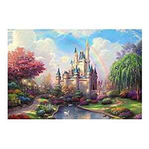 WAFamily 1000 Piece Jigsaw Puzzle Landscape Puzzle Game Interesting Toys 27.56×19.69 Inch Toys DIY Puzzles Graduation for Gift Decor Creativity Fairy Tales Patte Puzzles Toy Gift Mural (A)