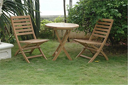 Anderson Teak Set-13 - No Cushion Andrew Folding Chair & Bahama 27