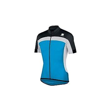 Sportful Pista LongZip Blue Jersey 2015  Amazon.co.uk  Sports   Outdoors abb16eab2