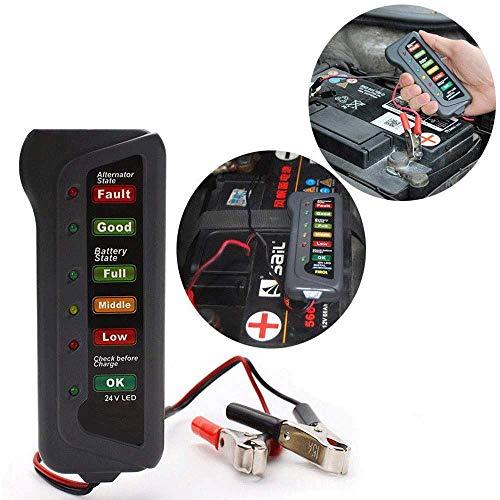 TERMALY Car Battery Tester Checker,Car Battery Testers,Car Battery Tools,24V LED battery car motorcycle yacht battery battery tester,battery test,A: Amazon.co.uk: Garden & Outdoors