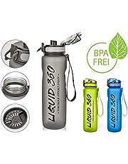 Liquid 360 Trinkflasche 1L   Wasserflasche Auslaufsicher   Sportflasche BPA Frei   Sport Fitness Outdoor  
