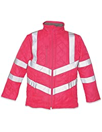 Yoko Hi vis Kensington Fleece Lined Jacket