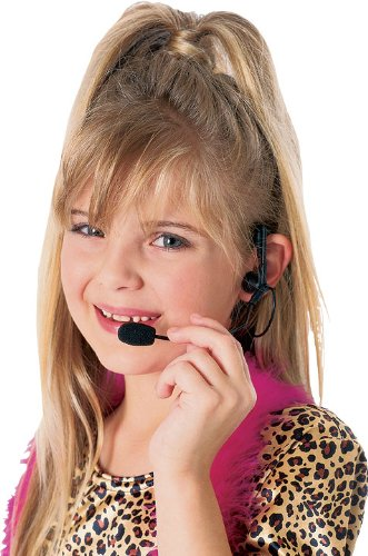Rubie's Rock Star Mic/Headset, Microphone Costume Accessory with Glitter Make-Up